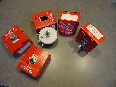 Ohmite Rheostat Potentiometer  J 50 watts 818639  2040278 re19607 5pc lot NOS