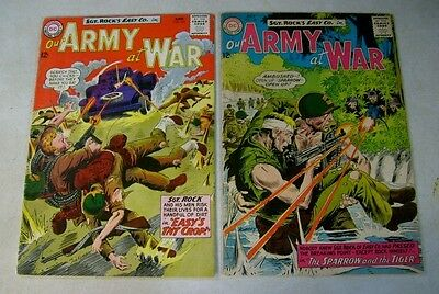 Our Army At War #143,144 Sgt Rock, Easy Co. , Kubert, 1964, Tnt Crop