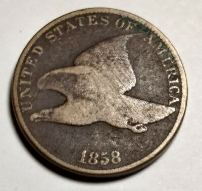 1858 flying eagle cent 835