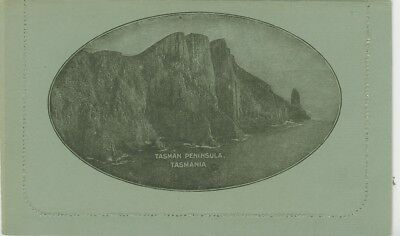 KGV 1d on grey, off-white inside showing Tasman Peninsula Tasman