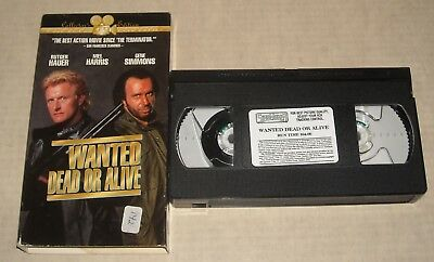RUTGER HAUER & KISS GENE SIMMONS in WANTED DEAD or ALIVE  VHS TAPE in SLEEVE