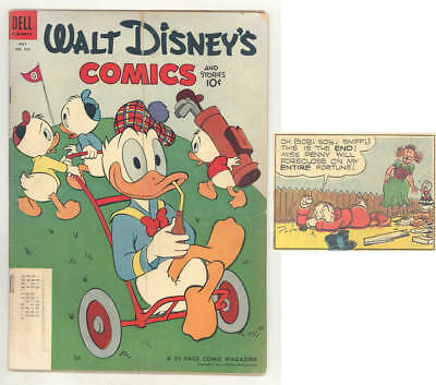 May 1954 WALT DISNEY COMICS & STORIES #164. BARKS  Donald & Scrooge. GOLF COVER