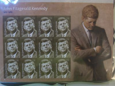 Us Mnh # 5175  John Fitzgerald Kennedy Pane Of 12  .49 Cent  Stamps