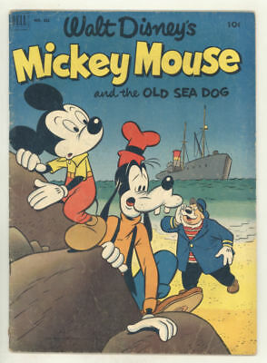 1952 MICKEY MOUSE AND THE OLD SEA DOG Dell 4-color #411