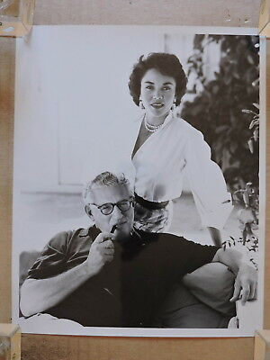 Jennifer Jones and David O Selznick at home orig candid portrait photo 1960's