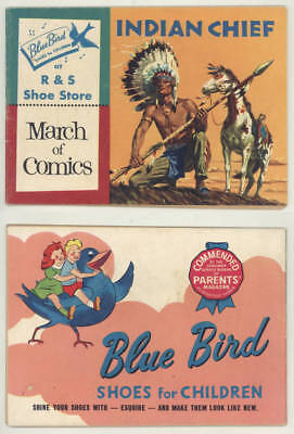 Rare 1955 MARCH OF COMICS #140 INDIAN CHIEF Blue Bird Shoes edition
