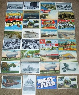 Large Lot Of Original Ww2 Era U.s. Military Related Postcards