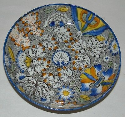 ANTIQUE C1840 STAFFORDSHIRE Bowl PEARLWARE Saucer SALOPIAN #2