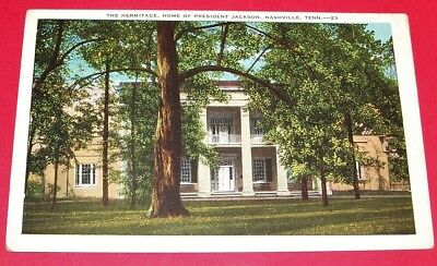 ORIGINAL ANTIQUE EARLY 1900's TENNESSEE POSTCARD: THE HERMITAGE, NEAR NASHVILLE