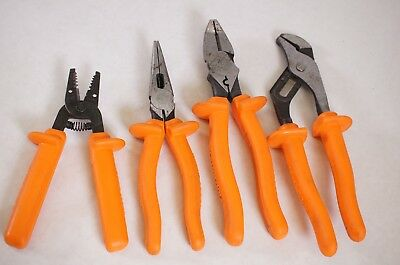Klein Tools 1000V Insulated Plier Set D213 D502 D203 11045 Strippers Needle Pump