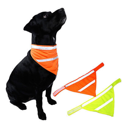Dog Bandana Collar Safety Visible At Night Scarves Reflective Pet Triangle Scarf