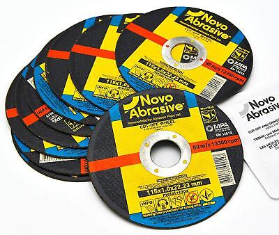 NOVOABRASIVE Cutting Discs 115 x 1.0 x 22.2 mm For Metal, Stainless Steel, Steel