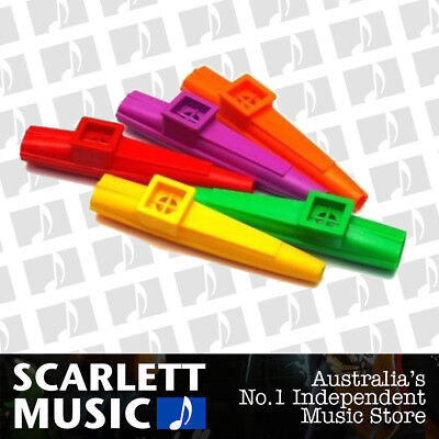 1 X SCOTTYS Kazoo Plastic Kids Music Mixed Colours *New* Great for Choirs
