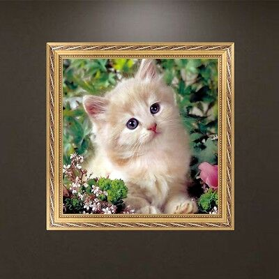 DIY 5D Diamond Embroidery Cat Painting Rhinestone Cross Stitch Craft Home Decor