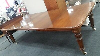 Antique Victorian Dark Mahogany Extra Large 9ft Extending Dining Table - C75