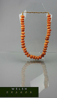 Fine Museum Quality Antique Chinese Amber 108 Grams Baltic 40 Beads Neclace