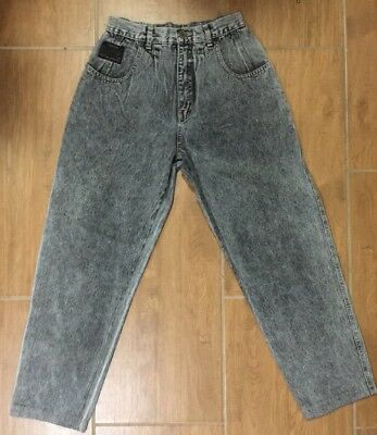 Vintage Faberge Jeans Grey Stonewash High Waisted Mom Jeans Made in Aus Sz 12