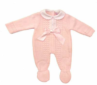 Stunning baby girls Spanish style Romany Knitted romper outfit 6-9 months BNWT