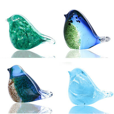 Handcraft Animal Craft Art Design Glass Blown Office Table Figurines Decor Gift