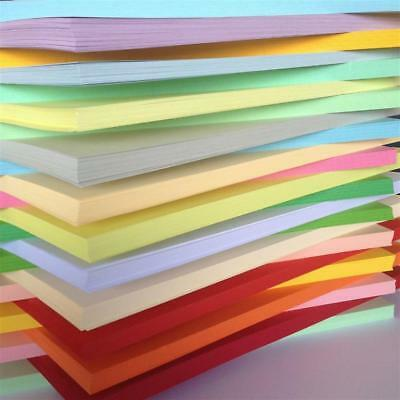 A4 100 Sheet Paper Pack In 25 Different Colours 80Gm Printer Freindly Arts Craft