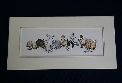 CINDY FARMER unFramed Color Print Bunny Rabbits Signed & Numbered 48/950 1988