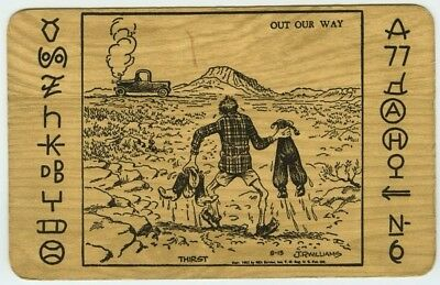 """New Mexico Cowboy Postcard Artist Signed J.R. Williams """"Out Our Way"""" Series 1"""