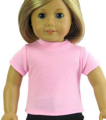 """For 18"""" American Girl Doll Clothes Basic Pink T-Shirt Shirt Top"""