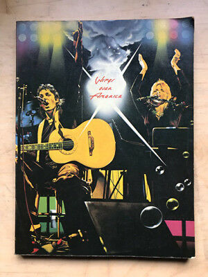 Wings Wings Over America Book 1976 128 Page Song Book (23 X 30 Cm) Uk