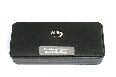 Bowls and Jack Enamel Black Ball Point Pens In Gift Case FREE ENGRAVING 040