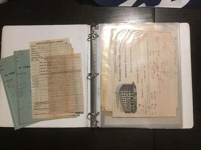1900-1940 LARGE LOT VERMONT GROCERY LETTERHEAD in BINDER 50+ PIECES
