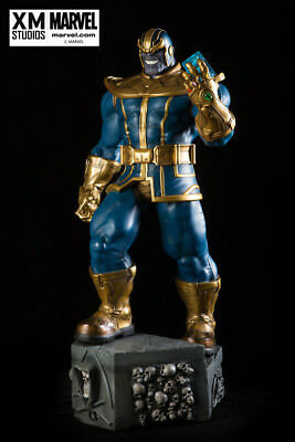 XM Thanos Statue with print NO COIN briefly displayed