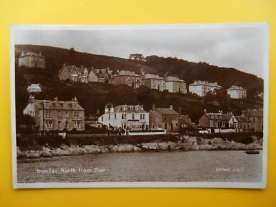 North From Pier INNELLAN Nr Dunoon Argyllshire *Vintage* RP 1931 Houses Hotel