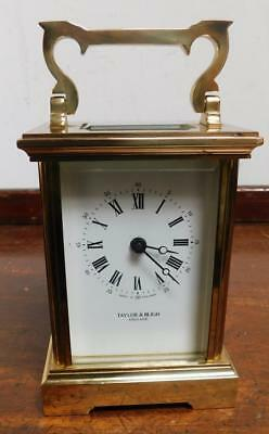 brass cased carriage timepiece clock