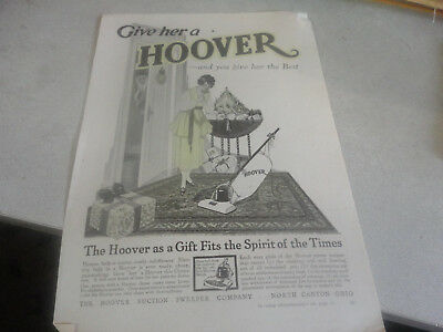 Vintage Give her a ''HOOVER'' Vacuum Cleaner Advertisement