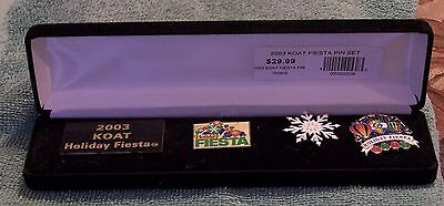 2003 Koat Holiday Fiesta Set Of 3 Pins In A Case