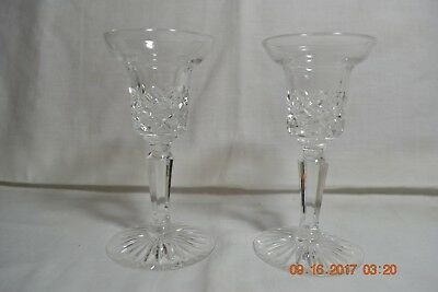 Pair of Lenox Crystal Elegant Fluted Candle Stick Holders