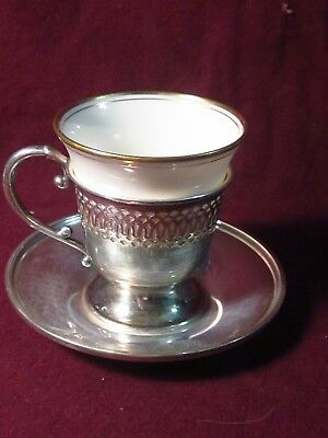 Lenox G. H. FRENCH CO. Sterling 3PC DEMITASSE OR EGG CUP SET