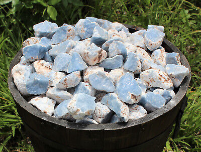 1/4 lb Bulk Blue Rough Natural Angelite Crystal Stone Raw Crystal Mineral Peru