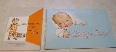 "1950s Metropolitan Life unused ""Baby's Book"" & ""Understanding Your Young Child"""