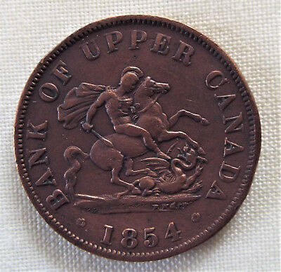Upper Canada 1854 Half Penny Bank Token