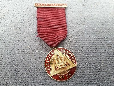 Pobjoy Silver Gilt Masonic MEZ 1965-66 Jewel Felicity Chapter No 58 E.Comp Ward