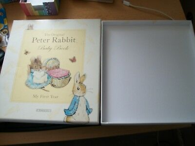 peter rabbitbaby book my first year box only original item hard cardboard