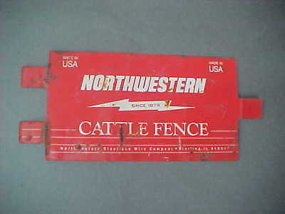 Vintage Northwestern Cattle Fence Tin Sign (Sterling, Il)
