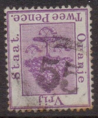 """ORANGE FREE STATE  OVS  NUMERAL  POSTMARK / CANCEL  """"55""""   Office not known"""