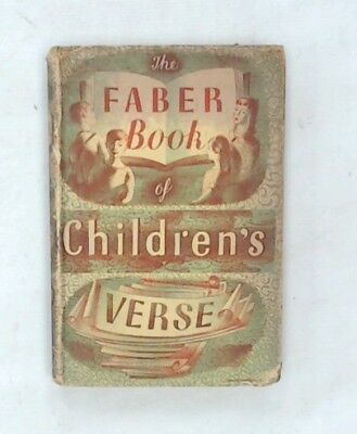 1st Edition THE FABER BOOK OF CHILDREN'S VERSE c1953 By Janet Adam Smith - R24