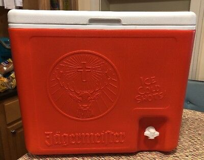 Jagermeister Cooler Ice Chest With Shot Dispenser Man Cave Beer