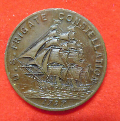Old Token, U.S. Frigate Constellation (1797), Struck From Parts Of Frigate