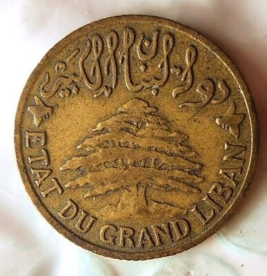 1931 LEBANON 5 PIASTRES - Excellent Hard to Find Coin - Low Mintage - Lot #719
