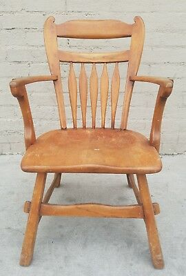 Antique Vintage Captain's Style Windsor Wooden Chair The Sikes Company Chair
