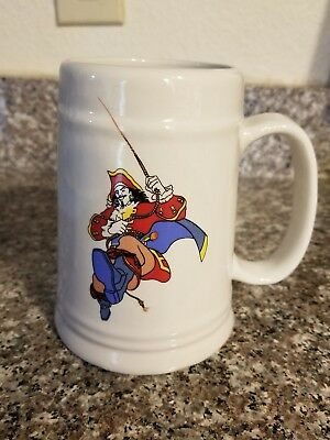 Vintage Captain Morgan Tankard Drinking Mug Stein Cup large rum glass pirate
